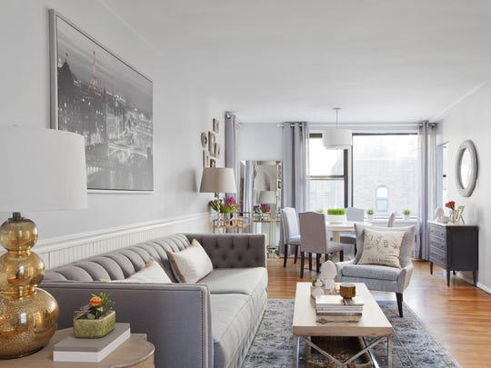 Decor Aid cofounder and designer Sean Juneja used home design blogs and other online resources to help design a clutter-free, serene retreat from the bright lights and busy streets of New York City in a high-rise apartment on the Upper East Side.