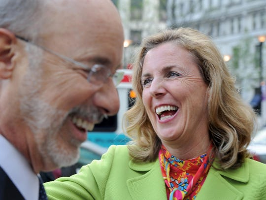 Democratic challenger Katie McGinty, seen here with