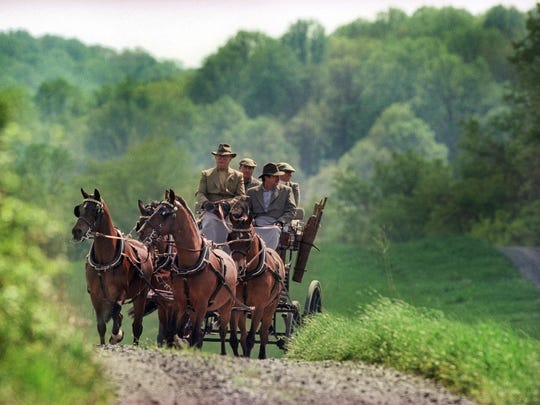 In 1998, Frolic Weymouth drove his four-in-hand, or a coach with four horses, around his Chadds Ford, Pa., property known as The Big Bend. His horses were named Simply, Rude, Always and Sexy.