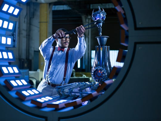 Mad scientist Baxter Stockman (Tyler Perry) is up to
