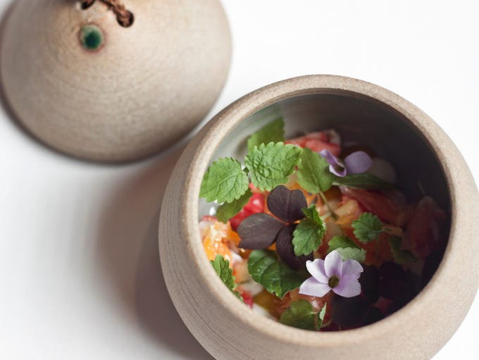 In Chicago, Oriole offers an Alaskan King Crab salad