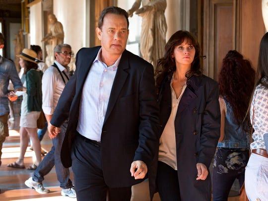"Tom Hanks and Felicity Jones star in ""Inferno,"" the"