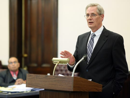 Dr. David Velasquez's defense attorney Dennis McNamara gives his opening statement Tuesday afternoon.