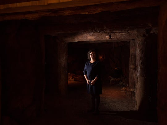 Suzanne Fischer poses for a portrait in the copper mine exhibit on Thursday, Dec. 22, 2016 at the Michigan History Center. Fischer is the new director of the state museum.