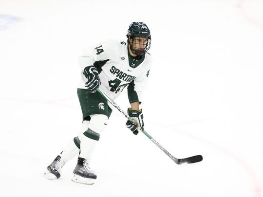 MSU freshman Butrus Ghafari found his love for hockey