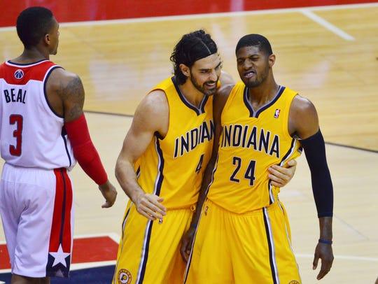 May 11, 2014; Washington, DC, USA; Indiana Pacers forward