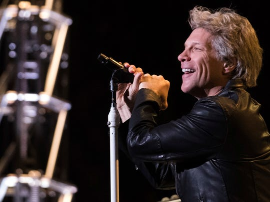 Jon Bon Jovi performs with Bon Jovi at Madison Square Garden on Thursday.