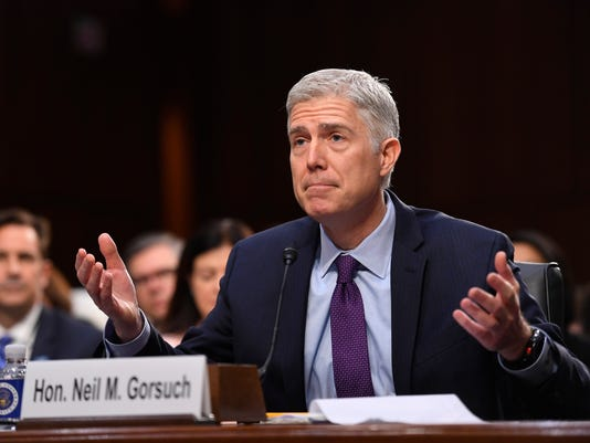 Gorsuch first day in court