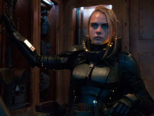 Cara Delevingne sports space armor, one of her favorite