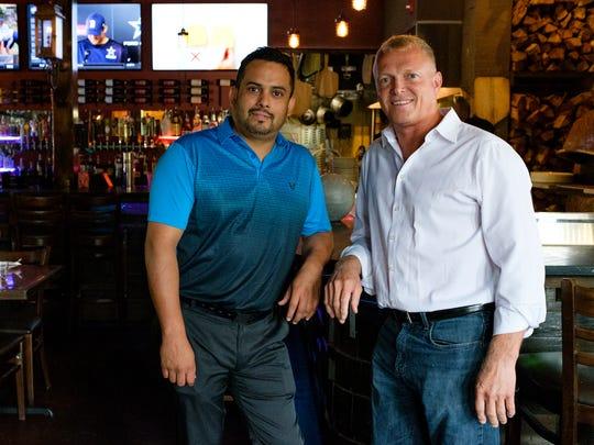 Wayne Gathings and Hugo Montanez of Stone Pizza Co.
