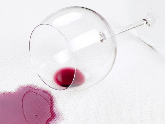 Red wine spilled on any white fabric usually leaves vivid reminders of the spill.