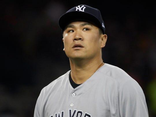 Aug 22, 2017; Detroit, MI, USA; New York Yankees starting