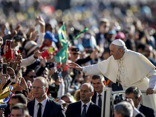 EPA EPASELECT VATICAN POPE FRANCIS GENERAL AUDIENCE REL BELIEF (FAITH) VAT