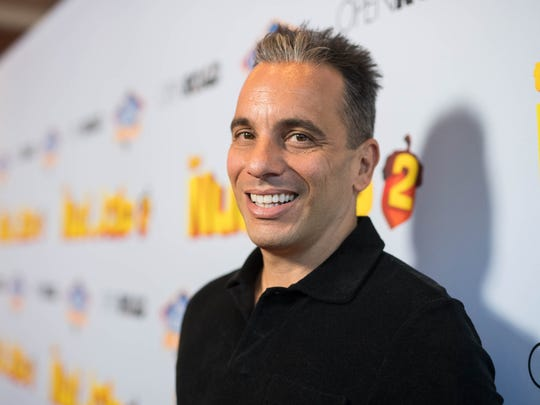 "Sebastian Maniscalco does the red carpet thing at the ""The Nut Job 2: Nutty by Nature"" on Aug. 5, 2017, in Los Angeles."