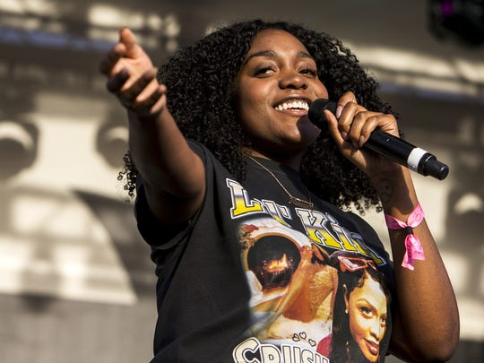 Noname performs at the Lost Lake Festival at Steele Indian School Park on Friday, Oct. 20, 2017 in Phoenix.