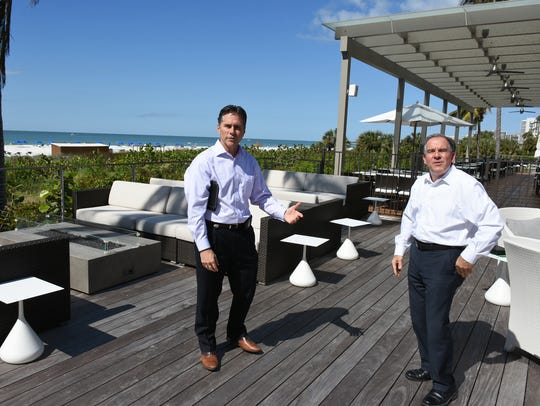 Director of sales and marketing Andrew Neubauer, left,