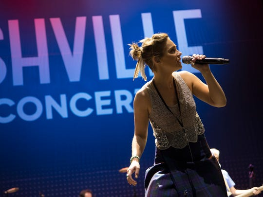 "Clare Bowen of ""Nashville"" performs in concert."