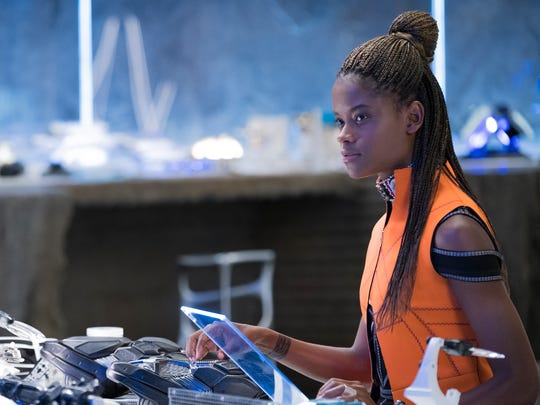 Princess Shuri (Letitia Wright) is a gadget-inventing