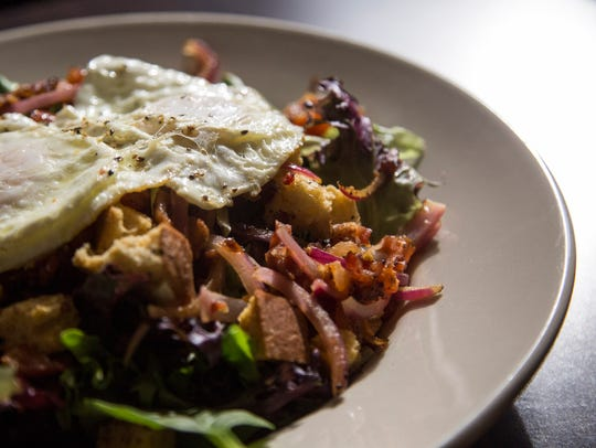 The Salad Lyonnaise at La Mie Elevate on Wednesday,
