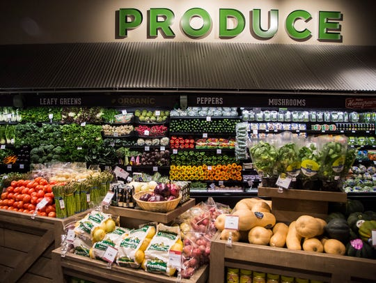 The produce section of the downtown Des Moines Hy-Vee grocery store is being expanded.