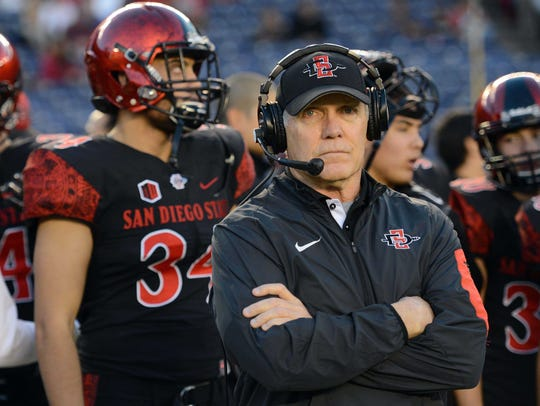 Coach Rocky Long's San Diego State Aztecs are one of
