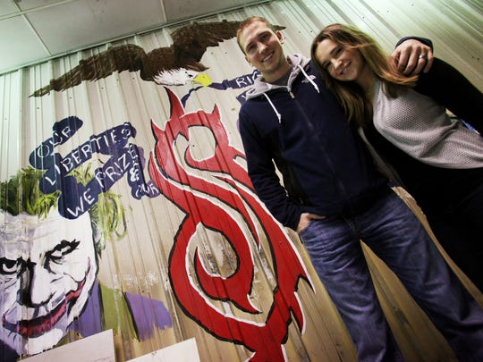 """Artist Ray """"Bubba"""" Sorensen and his photographer wife, Maria, work out of their studio in Greenfield."""