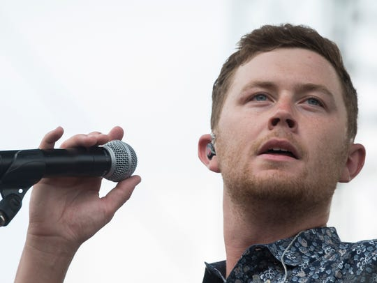 Scotty McCreery performs at the Chevy Riverfront Stage