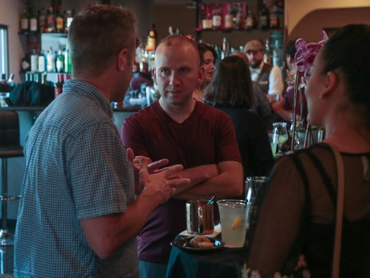 Filmmakers mingle at the 2018 Palm Springs International ShortFest opening night, Palm Springs, Calif., Tuesday, June 19, 2018.