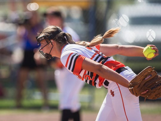 Charles City's Samantha Heyer is one of four 2019 UNI signees competing at the state softball tournament in Fort Dodge.