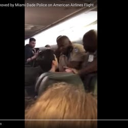 Video: American Airlines passenger tased 10 times after allegedly groping woman on plane