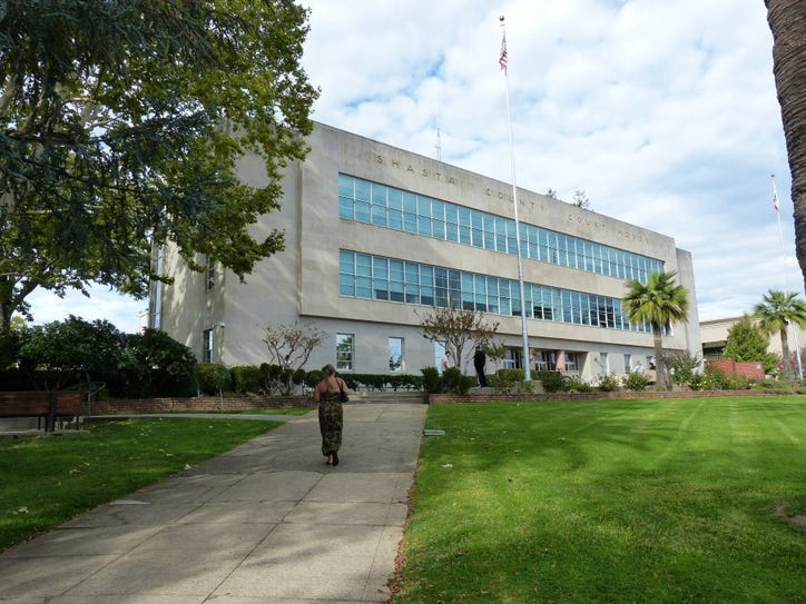 Record Searchlight file photo Plans to replace the aging Shasta County Courthouse are on hold again as the statewide construction fund for new courthouses is running short.
