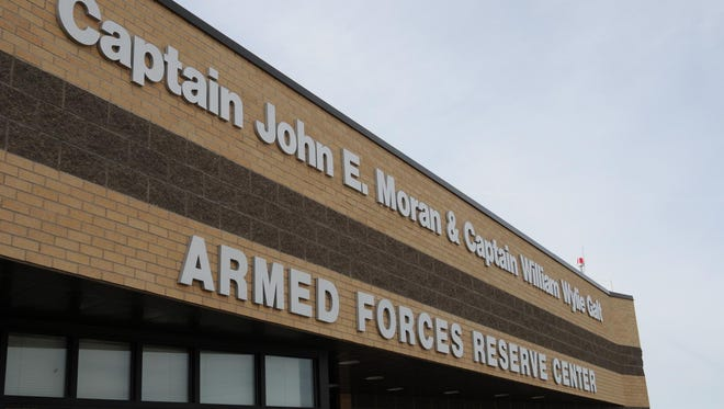The newly renamed Capt. John E. Moran and Capt. William Galt Armed Forces Reserve Center in Great Falls. The building was renamed through congressional action to honor the Montana men who received the Medal of Honor.