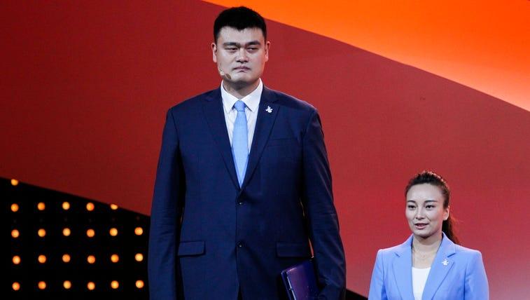 Retired Chinese professional basketball player Yao