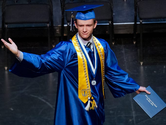 William Parker Kalstrom was among the 80 Edison Collegiate High School students who graduated Saturday at the school's commencement at the Barbara B. Mann performing Arts Hall in Fort Myers.