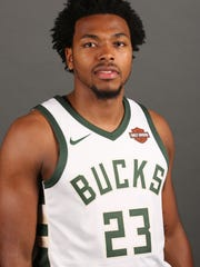 Milwaukee Bucks second round pick Sterling Brown at media day.