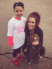 'Teen Mom' Chelsea Houska DeBoer poses with her children