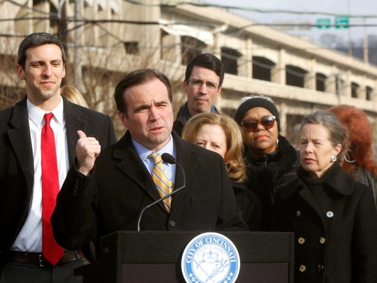 John Cranley announces his plan to provide $33 million to help build a new Western Hills Viaduct.