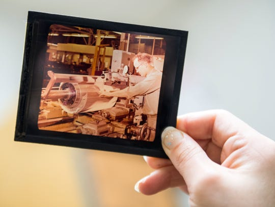 Photo slides such as this one are among items stored