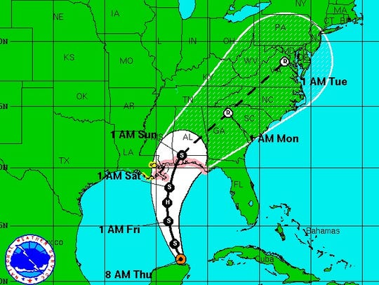 Tropical Storm Karen likely to hit Gulf Coast Saturday