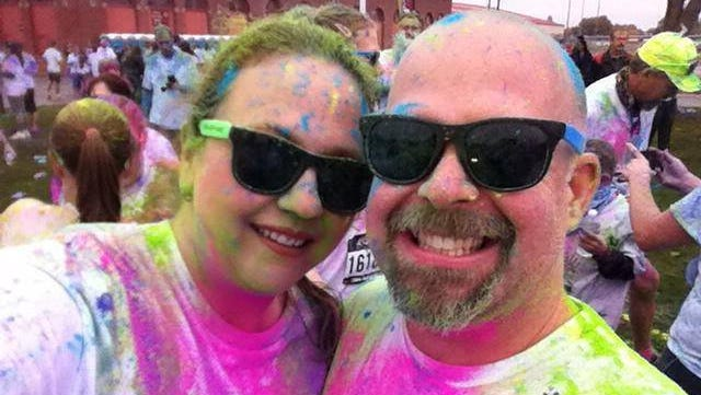 Independence residents Tammy and Shawn McCammon participated in the 2013 Color Vibe.