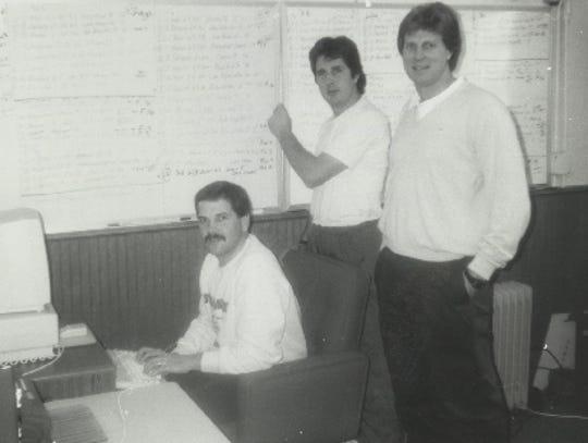 Coaches Hal Mumme, right, Mike Leach Leach and Charlie