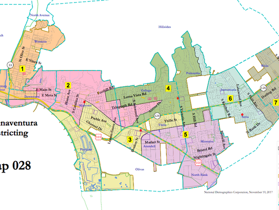 One of 33 maps submitted to the city of Ventura. The