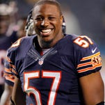 Bears LB Jon Bostic probably wasn't smiling when he learned about his $21,000 fine.