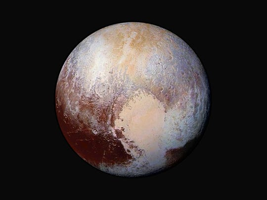 Pluto as seen by the New Horizons spacecraft, which