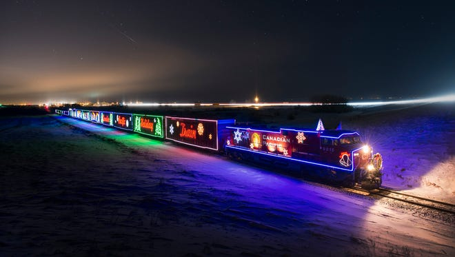Canadian Pacific's Holiday Train passed through northern Indiana early Thursday morning.