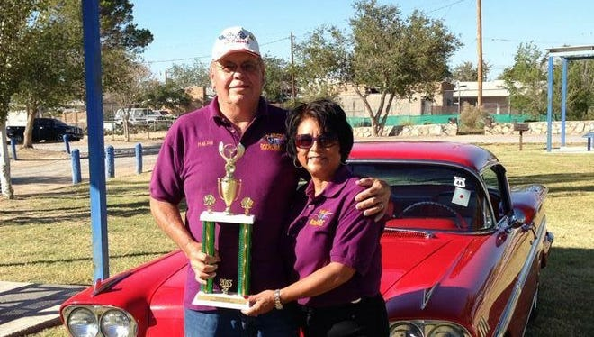 Las Cruces Rodrunners Car Club member Ralph Gonzales stands with his current wife Viola Gonzales in front of his 1958 Chevrolet Impala at the Stateliners Car Show in Anthony, Texas in October 2013. Gonzales' late wife Leslie passed away in 2002, seven years after receiving a liver transplant. Gonzales plans to enter his Chevrolet Impala in the 10th annual Donate Life Car Show and Health Expo on Saturday, Aug. 20 at Young Park.