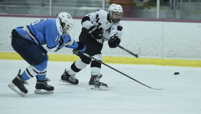 Dean Hulbert (right) scored twice for Wayne Hills against Middletown North.