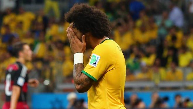 Marcelo llora tras la goleada histórica en contra de su equipo.