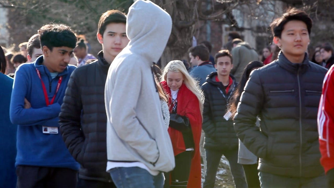 A majority of the school located near downtown Louisville participated in the walkout to honor victims of recent school shootings.