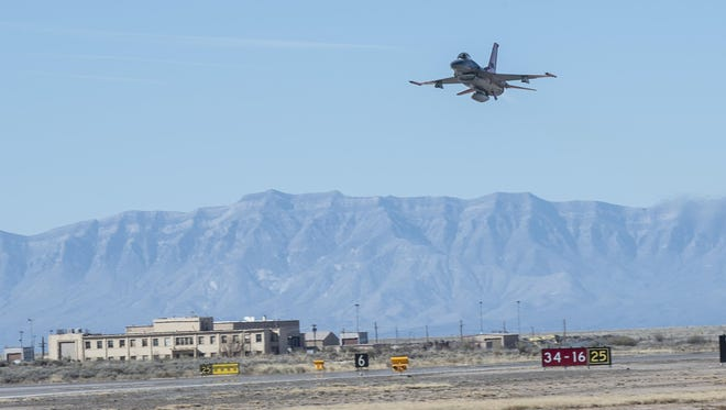 The Air Force is proposing to relocate two F-16 squadrons to Holloman AFB, N.M. or Joint Base San Antonio, Texas, from Hill Air Force Base, Utah. Members of the public are invited to express support or concerns during the 30 day public comment period, which will end on May 9, 2017. The 54th Fighter Group, a geographically-separated unit under the 56th Fighter Wing located at Luke Air Force Base, Ariz., currently operate F-16s at Holloman.
